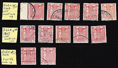 NZ  Collection of £1 used ARMS stamps Cat £60+ (see desc)