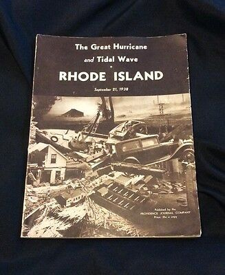 The Great Hurricane & Tidal Wave 1938 Rhode Island Photographed Booklet Book