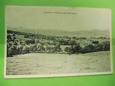 Moffat from Coates Hill Dumfriesshire Postcard Posted 1940.