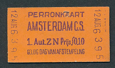 QY3186d HOLLAND Amsterdam CS  platform ticket