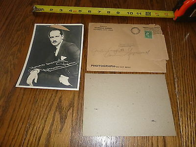 """1920's Norman Kerry Fan Signed Photo & envelope ~ very rare ~ 5"""" x 7"""""""