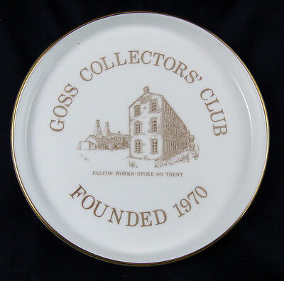 Lovely Goss Collectors Club Falcon Works, Dish, Boxed