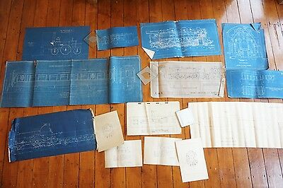 Railway Blue Print Locomotive Loco Wagons Technical Diagrams x14 GWR Lion GCR