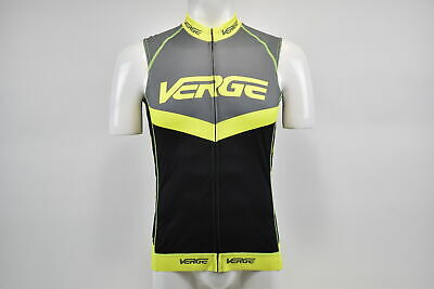 Brand New Verge Men/'s Triumph Core Relaxed S//S Cycling Jersey Blk//Gr//Drk Blue S
