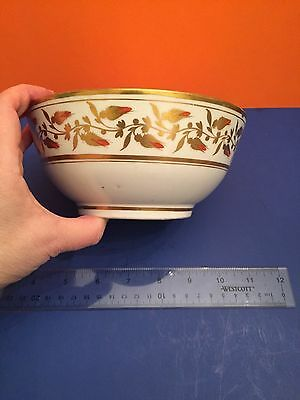 Early 19Th Century English Hand Painted Gilded Decorated Porcelain Waste Bowl