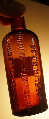RARE ☠poison☠ AGFA IG FARBEN blown glass apothecary chemist bottle jar pharmacy