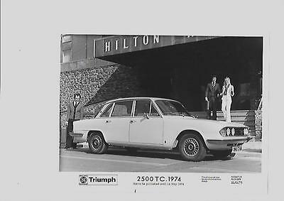 Triumph 2500 Tc. Press Photo For May 1974 'brochure Connected'