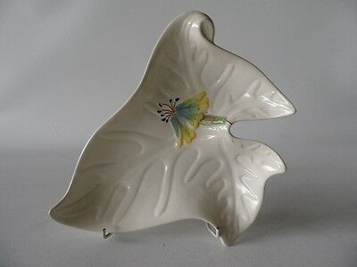 Vintage Shorter & Son Staffordshire Hand Painted Floral Display Dish Unusual