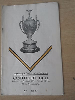 Castleford V Hull 7/2/70 Rugby League Challenge Cup