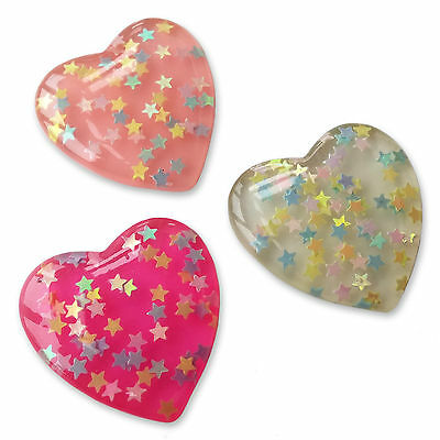 3pcs Large Shooting Star Resin Flatback Cabochons Embellishment Decoden Craft