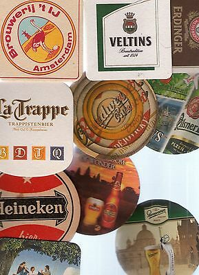 10 Worldwide Beer Mats/coasters All Different