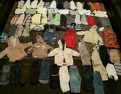 Baby Boys 6-9 months clothes bundle 70 items
