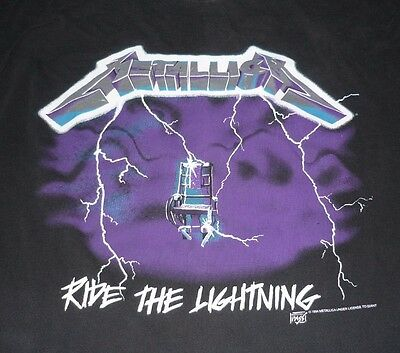 METALLICA 1994 Ride The Lightning Vintage Tour Shirt XL! Concert
