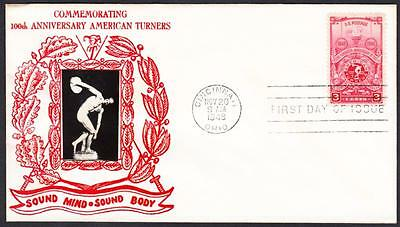 American Turners 978 Crosby First Day Cover V2