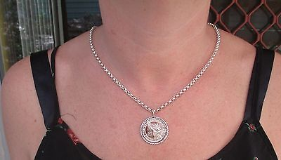 Statue Of Liberty Dollar  Made Into A Pendant