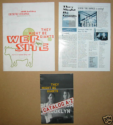 THEY MIGHT BE GIANTS 2 fan club newsletters + catalog