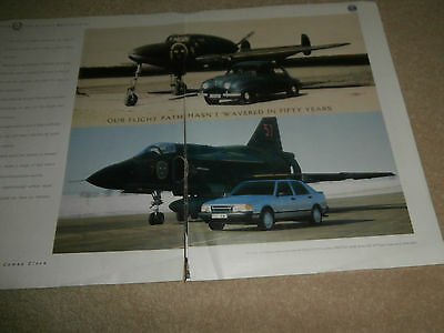 SAAB car / aircraft over 50 years 1987 advertisment