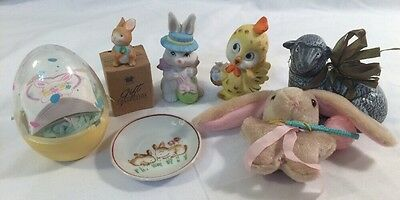 Easter Bunny Decorations 7 Piece Lot