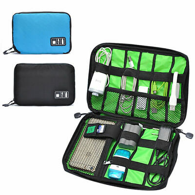 Portable Travel Insert Case Electronic Accessories Cable USB Drive Organizer Bag