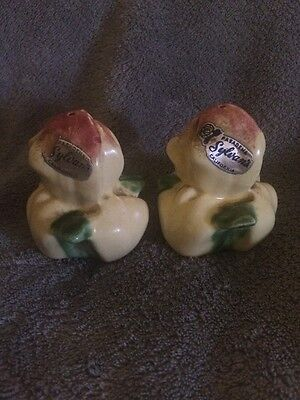 Vintage Yellow Flower Bud Salt & Pepper Shakers - Sylvan's Pasadena California