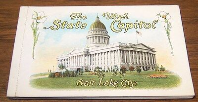 Salt Lake City  UTAH STATE CAPITOL  BOOK OF 12 POSTCARDS - Vintage