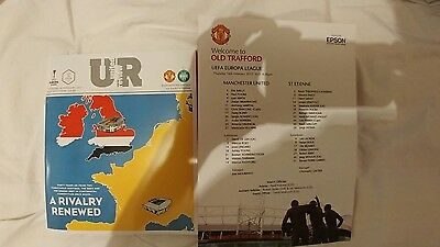Manchester United V Saint Etienne 16/02/17 + Official Teamsheet