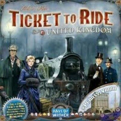 Ticket To Ride United Kingdom and Pennsylvania Expansion Brand New