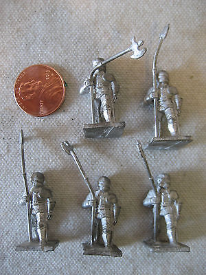 vintage Minifigs War of the Roses KNIGHTS w/ POLEAXE rpg gaming miniatures 25mm