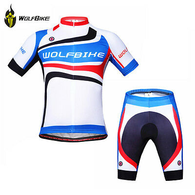 NEW Men Bicycle Jersey Padded Shorts Set Short Sleeve Cycling Sport Wear Size XL