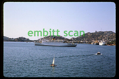 Original Slide, Orient Overseas Line Cruise Ship SS Universe at Acapulco, 1980
