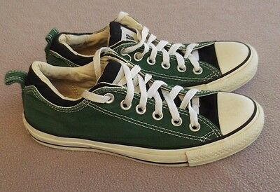 Converse All Star Sneakers Green / Black Size Mens 8 Women 7 EUR 37.5