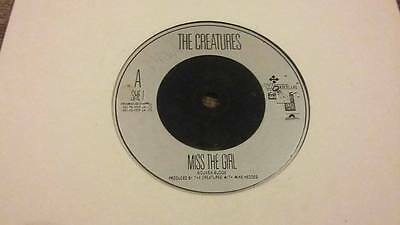 """The Creatures / Siouxsie & The Banshees """" Miss The Girl """" Vg Vintage 45 Rpm"""