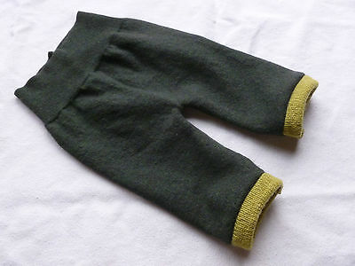 wool longies longie *NEW* diaper cover soaker pants olive/green S