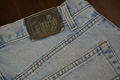 6670 Mens Levi Strauss Silver Tab Straight Relaxed Blue Denim Jeans Sz 34 x 36