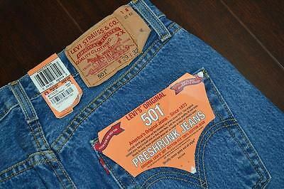 6669 New Mens Vintage Levis 501 Double XX Rare Straight Button Fly Jeans 29 x 32