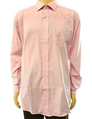 Forsyth of Canada NEW Pink Mens Size 17 1/2 Tailored Fit Dress Shirt $69 #980