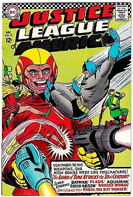 JUSTICE LEAGUE OF AMERICA #50 (FN-) 1st The Lord of Time App! DC Silver-Age