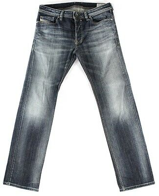 Diesel NEW Washed Blue Mens Size 31X30 Slim Straight Leg Jeans $188 #119