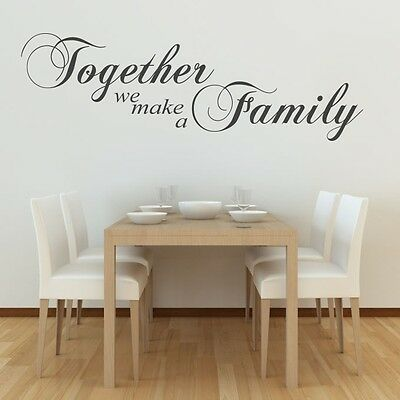 Together We Make a Family Art Wall Quote living room sticker art vinyl stickers