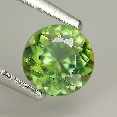 Gorgeous 0.85 Ct Natural Unheated Green APATITE Round Gem @See Video !