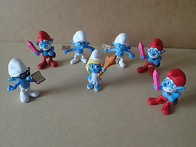 Smurf Figures Plastic Mcdonald's Happy Meal collectable lot