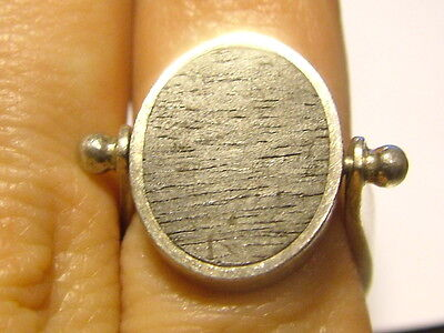 Silver Puig Doria Designer Swivel Ring With Wood