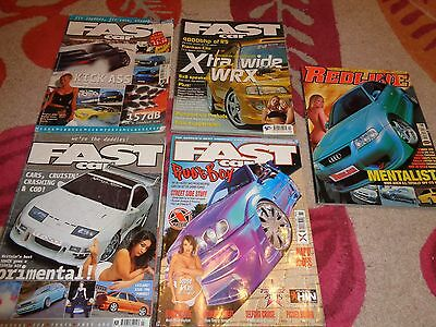 Collection Of 4 Vintage Fast Car & 1 Redline  Magazines