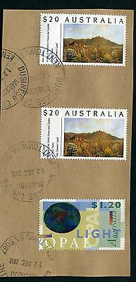 Australia $20 Painting x 2 - Fine Used on piece
