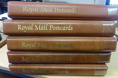 Royal Mail Postcard Albums x 5 - 2nd hand- with leaves