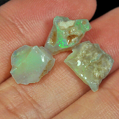 5.9CT 100% Natural Australian Coober Pedy Opal Play Of Color Specimen YON3296