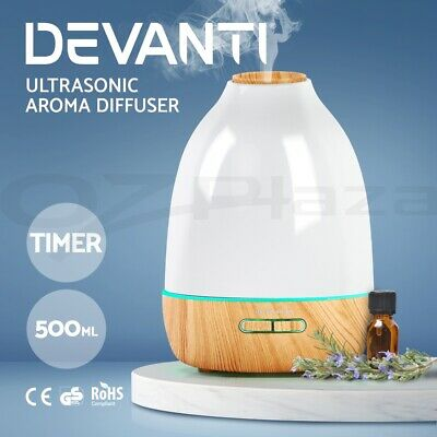 Aroma Diffuser Essential Home LED Oil Aromatherapy Air Humidifier Purifier 500ml