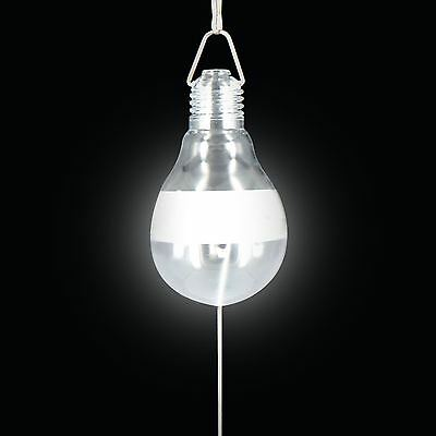 Portable Solar Powered LED Hanging Light Bulb Outdoor Fishing Camping Tent Torch