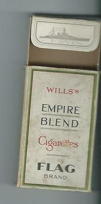 An Empty Wills Flag Cigarette Packet