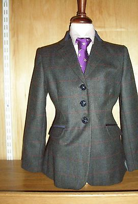 Tagg Elf Essen Childs Peat (Green) Tweed Show/Hunting Jacket